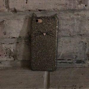 glitter cat phone case